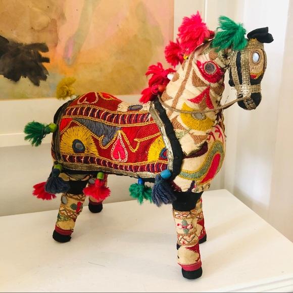 Beautiful vintage handmade Rajasthani cloth horse